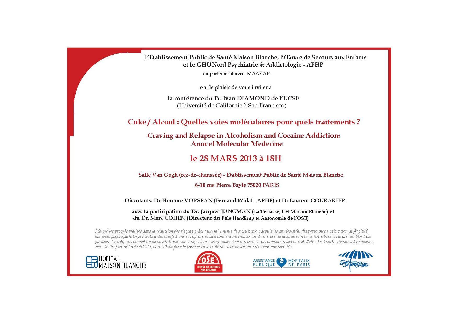 Invitation Conférence - Pr DIAMOND