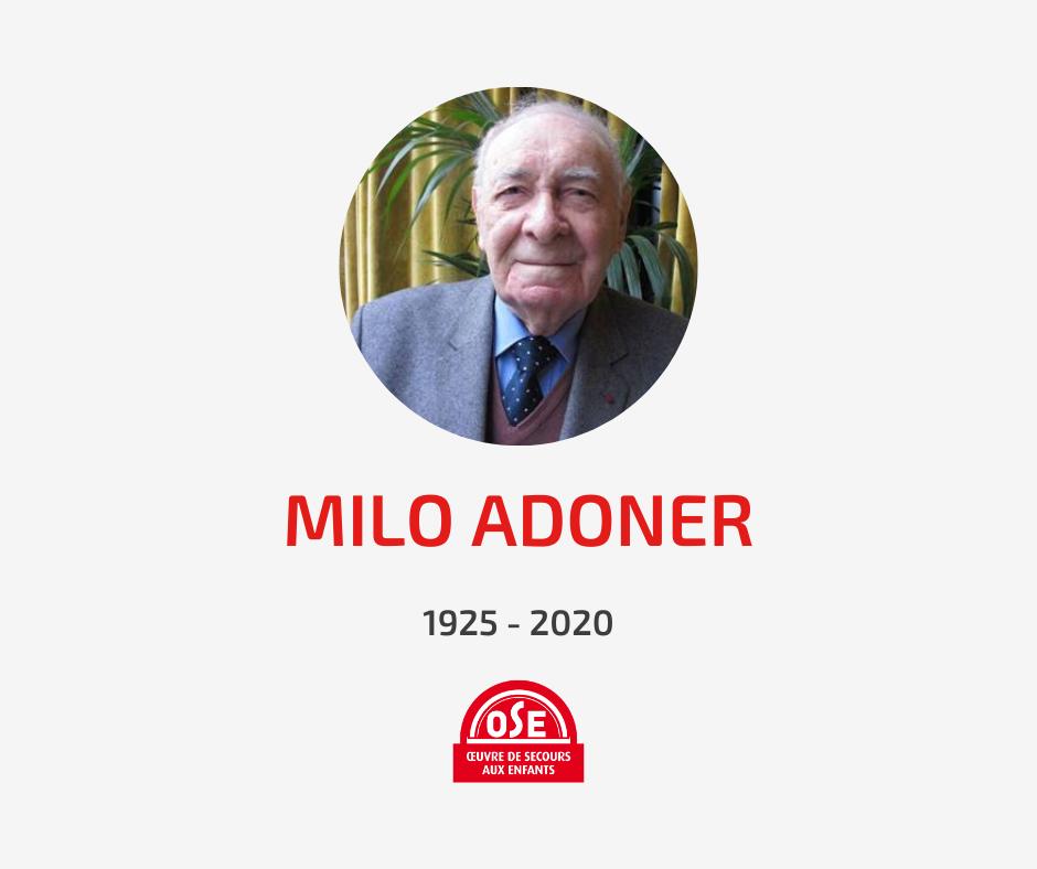 Décès Milo Adoner