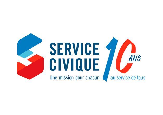 10 ans du service civique - logo