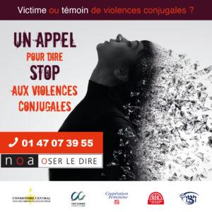 Noa OSer le dire se mobilise contre les violences conjugales.